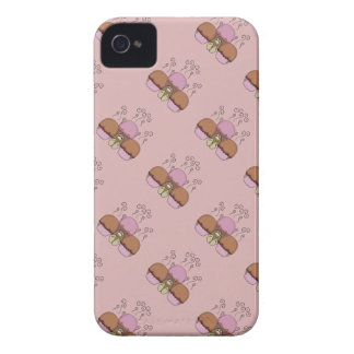Cute Monster With Orange And Red Frosted Cupcakes Case-Mate iPhone 4 Cases