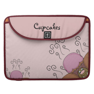 Cute Monster With Orange And Red Frosted Cupcakes Sleeves For MacBook Pro
