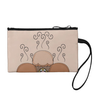 Cute Monster With Orange Frosted Cupcakes Change Purse