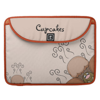 Cute Monster With Orange Frosted Cupcakes MacBook Pro Sleeves