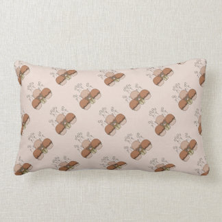 Cute Monster With Orange Frosted Cupcakes Pillow