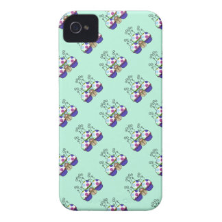Cute Monster With Pink And Blue Polkadot Cupcakes iPhone 4 Case-Mate Case