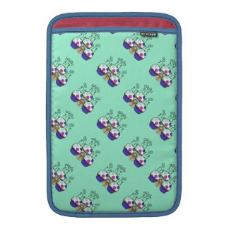 Cute Monster With Pink And Blue Polkadot Cupcakes MacBook Sleeve
