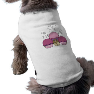 Cute Monster With Pink And Purple Frosted Cupcakes Doggie Shirt