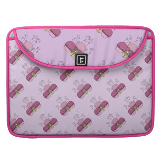 Cute Monster With Pink And Purple Frosted Cupcakes Sleeves For MacBooks