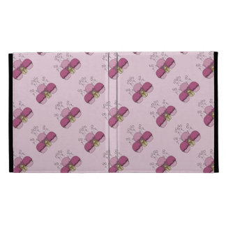 Cute Monster With Pink Frosted Cupcakes iPad Folio Covers
