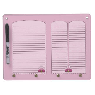 Cute Monster With Pink Frosted Cupcakes Dry-Erase Boards