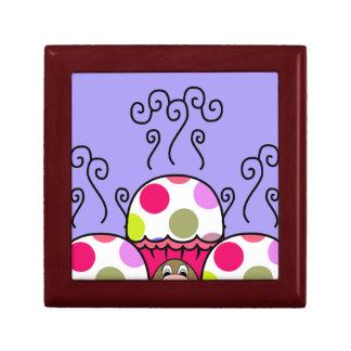 Cute Monster With Pink & Purple Polkadot Cupcakes Keepsake Boxes