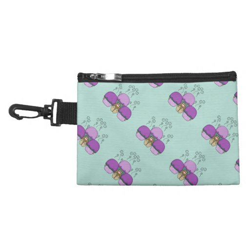 Cute Monster With Purple And Cyan Frosted Cupcakes Accessories Bags
