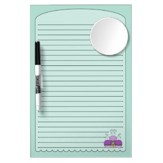 Cute Monster With Purple And Cyan Frosted Cupcakes Dry-Erase Whiteboards