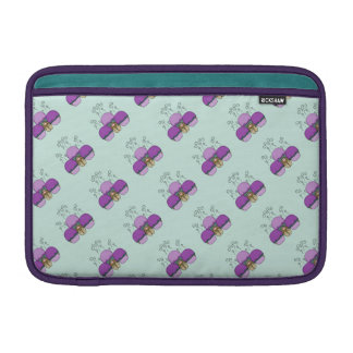 Cute Monster With Purple And Cyan Frosted Cupcakes MacBook Sleeves