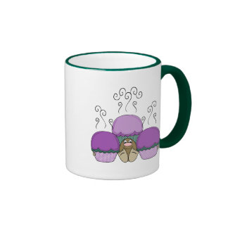 Cute Monster With Purple And Cyan Frosted Cupcakes Mug