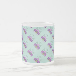 Cute Monster With Purple And Cyan Frosted Cupcakes Coffee Mug