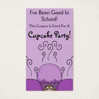 Cute Monster With Purple Frosted Cupcakes Business Card