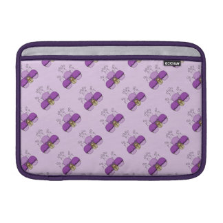 Cute Monster With Purple Frosted Cupcakes Sleeve For MacBook Air