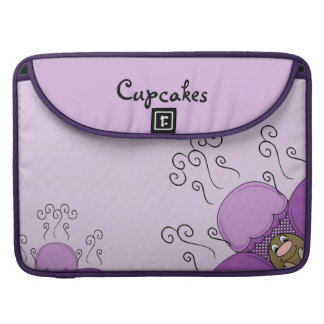 Cute Monster With Purple Frosted Cupcakes Sleeves For MacBook Pro