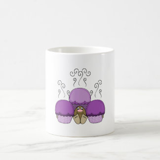 Cute Monster With Purple Frosted Cupcakes Coffee Mug