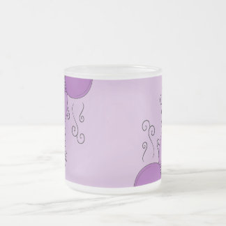 Cute Monster With Purple Frosted Cupcakes Mugs