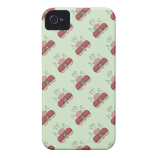 Cute Monster With Red And Green Frosted Cupcakes iPhone 4 Cases