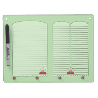 Cute Monster With Red And Green Frosted Cupcakes Dry-Erase Boards