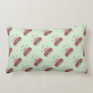 Cute Monster With Red And Green Frosted Cupcakes Throw Pillow