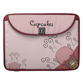 Cute Monster With Red Frosted Cupcakes MacBook Pro Sleeve