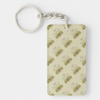 Cute Monster With Yellow Frosted Cupcakes Acrylic Keychains