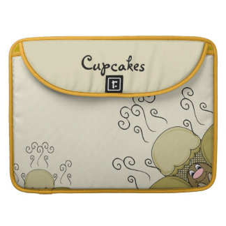 Cute Monster With Yellow Frosted Cupcakes Sleeve For MacBooks