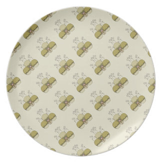Cute Monster With Yellow Frosted Cupcakes Plates