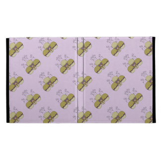 Cute Monster With Yellow & Purple Frosted Cupcakes iPad Folio Cases