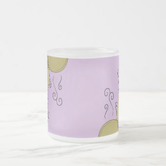 Cute Monster With Yellow & Purple Frosted Cupcakes Mugs