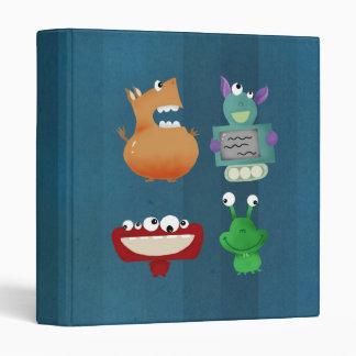 cute monsters 3 ring binder