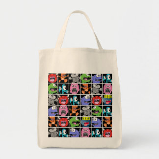 Cute Monsters Aliens and Devils Canvas Bag