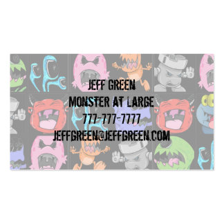 Cute Monsters Aliens and Devils Business Card