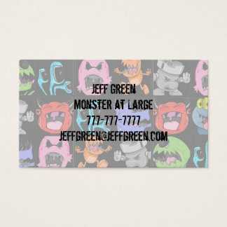 Cute Monsters, Aliens and Devils Business Card