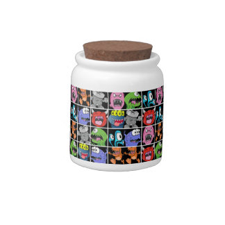 Cute Monsters Aliens and Devils Candy Jars