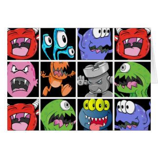 Cute Monsters Aliens and Devils Greeting Cards