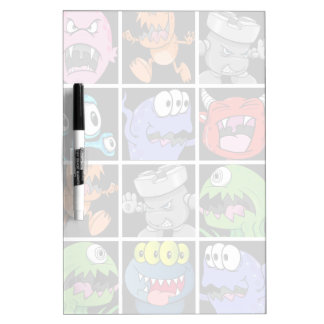 Cute Monsters Aliens and Devils Dry-Erase Whiteboards