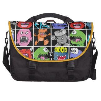 Cute Monsters Aliens and Devils Laptop Bags