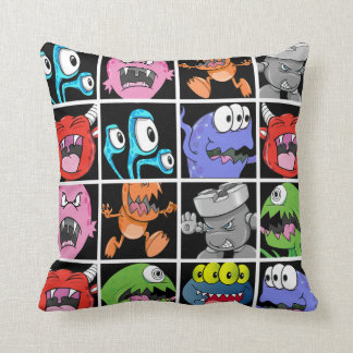 Cute Monsters Aliens and Devils Throw Pillows