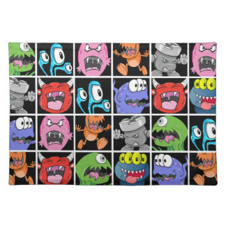 Cute Monsters Aliens and Devils Placemat