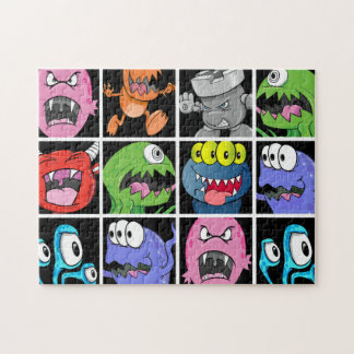Cute Monsters Aliens and Devils Jigsaw Puzzles
