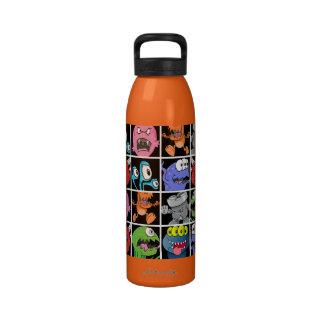 Cute Monsters Aliens and Devils Water Bottles