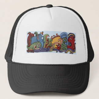 Cute monsters in strange world trucker hat