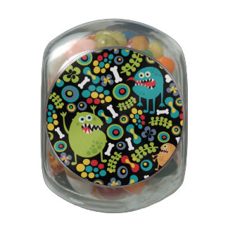 Cute Monsters Texture Glass Jars