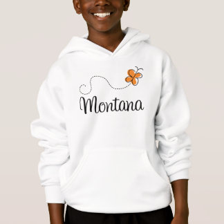 Cute Montana Butterfly Gift Hoodie