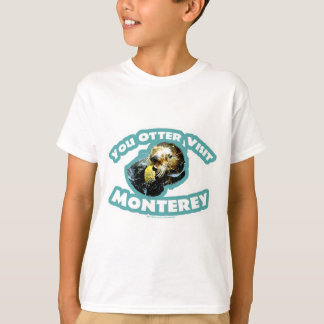 Cute Monterey Otter Travel T-Shirt