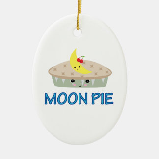 CUTE MOON PIE CERAMIC ORNAMENT