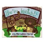 Cute Moose and bear Invitations