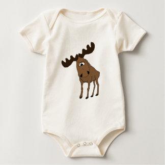 Cute moose baby bodysuit